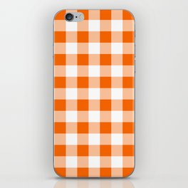 Orange Check iPhone Skin