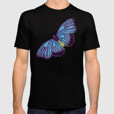 Butterflies and Burlap Black Mens Fitted Tee MEDIUM