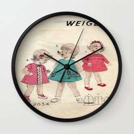 Vintage Little Girls Dream Wall Clock