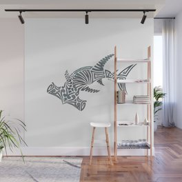 Tribal Hammerhead Shark Wall Mural