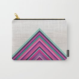 Wood and Bright Stripes, Chevron - Geometric Design Carry-All Pouch