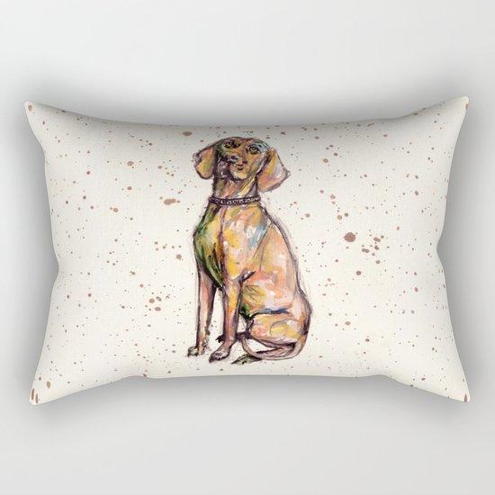 Hungarian Vizsla Dog Rectangular Pillow