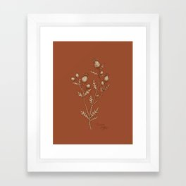 Thistle in Autumn Framed Art Print
