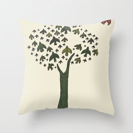 The Bird Tree Throw Pillow