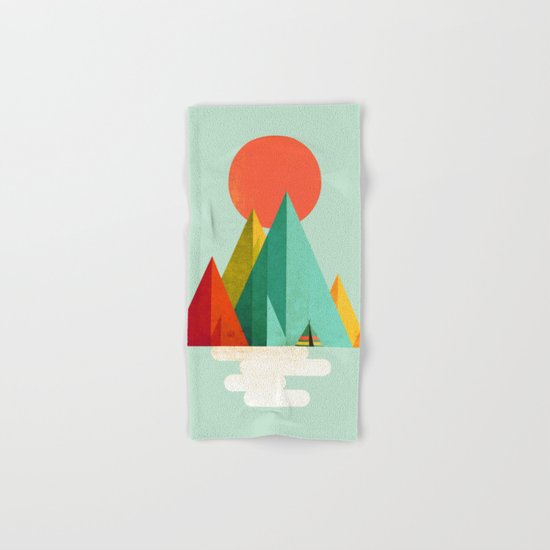 Little Geometric Tipi Hand & Bath Towel