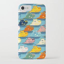 Happy Hippo Family iPhone Case