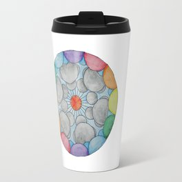 Interplanetary Elephants with Balloons Travel Mug