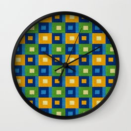 Summer laziness. Squares inside each other. Wall Clock