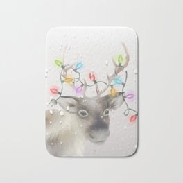 Christmas Reindeer Bath Mat