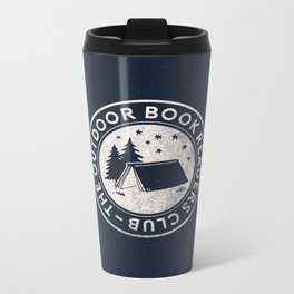 Outdoor Book Readers Club logo Metal Travel Mug