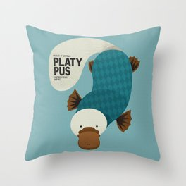 Hello Platypus Throw Pillow