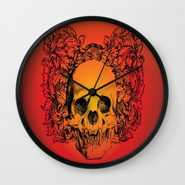 Skull Graphic Wall Clock