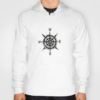 compass Hoodies featuring COMPASS by MrWhite