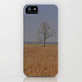 One Tree in a corn field iPhone Case