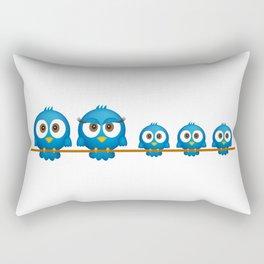 Cute twitter bird family cartoon Rectangular Pillow