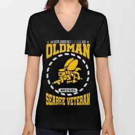 Never Underestimate An Old Man T-Shirt Unisex V-Neck