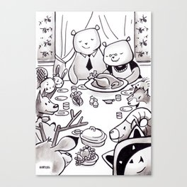 FANCY FEAST WITH FRIENDS Canvas Print