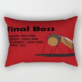 Final Boss - Red background Rectangular Pillow