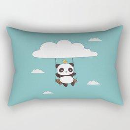 Kawaii Cute Panda In The Sky Rectangular Pillow