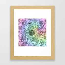 Psychedelic Swirls Framed Art Print