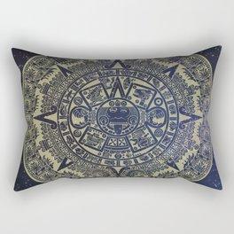 Ancient Aztec Calendar Rectangular Pillow