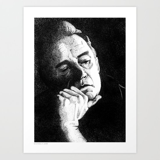Man In Black JCII Pointillism Art Print
