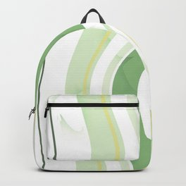 Abstract lines green and white with butterflies Backpack