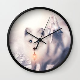 Foxland by lc-korim Wall Clock