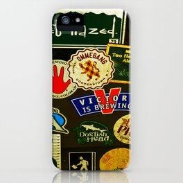 beer sticker party iPhone Case