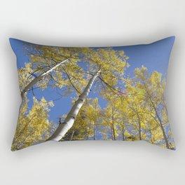 Looking Up Aspens Rectangular Pillow