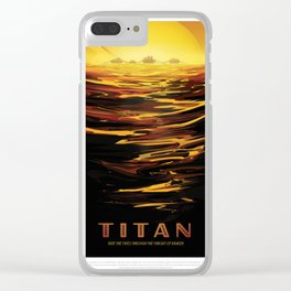 NASA Visions of the Future - Titan: Ride the tides through the throat of Kraken Clear iPhone Case