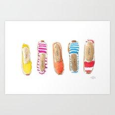 Summer Espadrilles Art Print