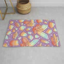 Rainbow Crystal Print Rug