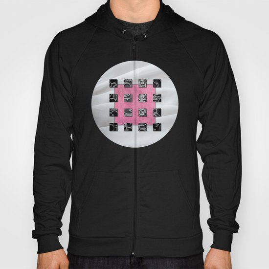 SQUARE AMBIENCE - White Satin Hoody