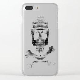 Bitter Bone Skull Clear iPhone Case
