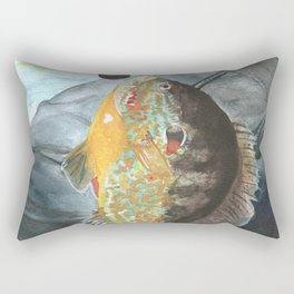 Fisherman with Bluegill Rectangular Pillow