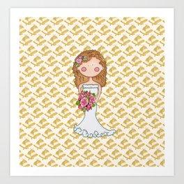 Wedding Bell Bride Art Print