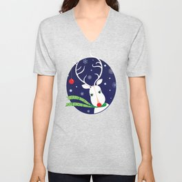Merry Merry You-Know-What from Rudolph Unisex V-Neck