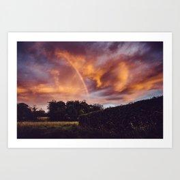 Rainbow Sunset Art Print