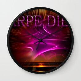 Carpe Diem - Wellness Wall Clock