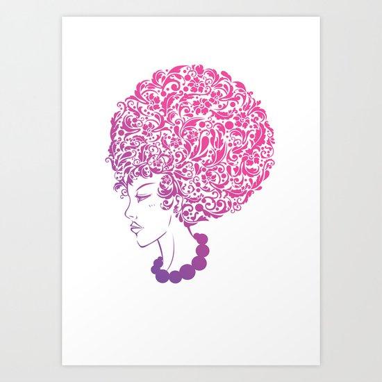 Ms. Floral Art Print