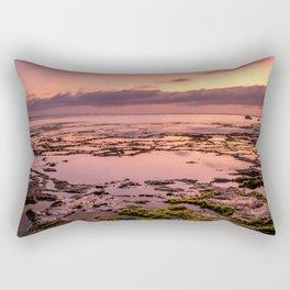 Magic sunset at Nyang Nyang beach in Bali Rectangular Pillow