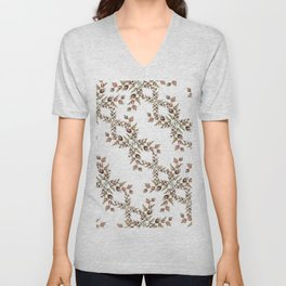 Elegant lace autumn pattern Unisex V-Neck