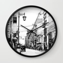 The Streets of Gion, Kyoto Wall Clock