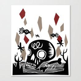 Crânio Canvas Print