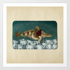 The Ice Fish Cometh Art Print