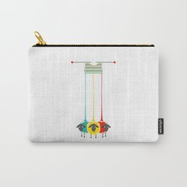 Knitting sheep bright and funny concept Carry-All Pouch