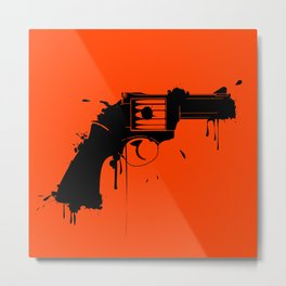 Grunge Gun Metal Print