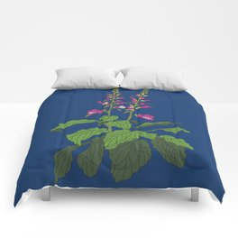 Foxglove Flower Garden Illustration Comforters