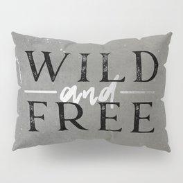 Wild and Free Silver Concrete Pillow Sham